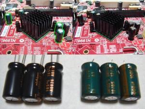 emachines j4432 電解コンデンサー交換