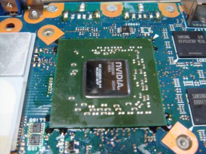 Qosmio_G10 グラフィックチップリフロー修理3